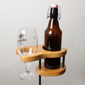 Bierhalter - Buche - dekoriert