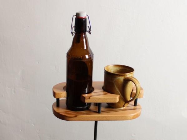 NewTwin - Getränkehalter - Buche - dekoriert