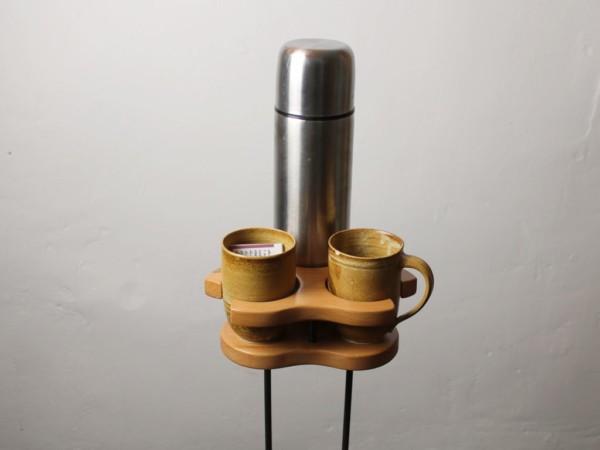Trio - Getränkehalter - Buche - dekoriert
