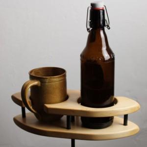 KaffeTwin - Getränkehalter - Erle - dekoriert