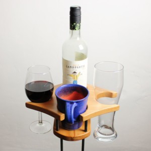 Uni - Getränkehalter - Buche - dekoriert