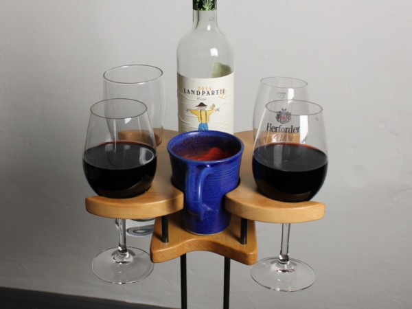 Uni Familie - Getränkehalter - Buche - dekoriert