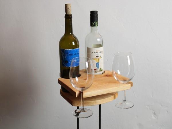 Uni Tisch - Getränkehalter - Erle - dekoriert