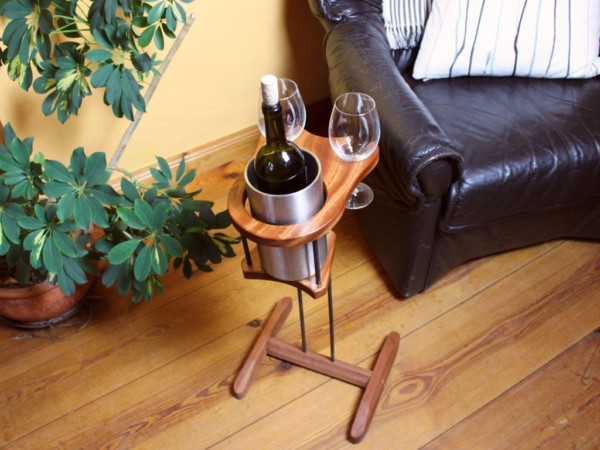 Weinhalter Kühler mit Fuß