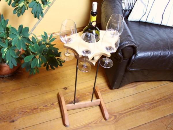Weinhalter Party mit Fuß