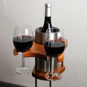 Weinhalter Kühler - Getränkehalter - Mahagoni - dekoriert